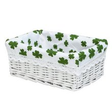 Wicker Basket Food Storage Basket Cosmetic Storage Basket WHITE[Clover]
