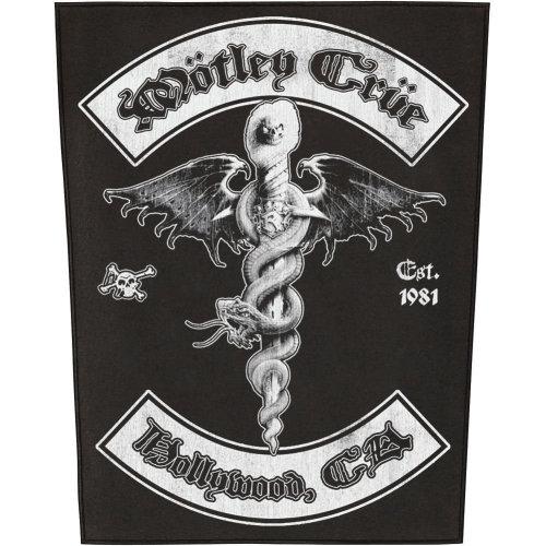 Mötley Crüe Hollywood Backpatch Multicolour - Mtley Cre -  mtley cre hollywood backpatch multicolour