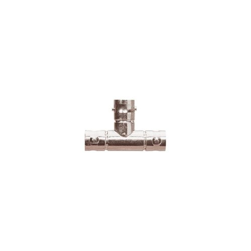 BNC T Connector with Gold Plated Pin Contact (Female/Female/Female) 50 Ohm