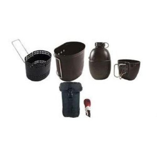 BCB CN014B Crusader Mk II Cooking System 6 Piece Set Black Pouch