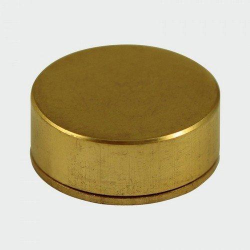 TIMco TSC12PBP Polished Brass Screw Cap Bag of 4