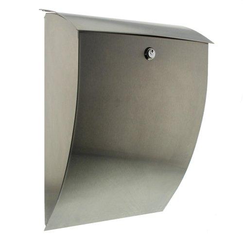 Burg-Wächter Milano 3843 ES Stainless Steel Mailbox, Grey