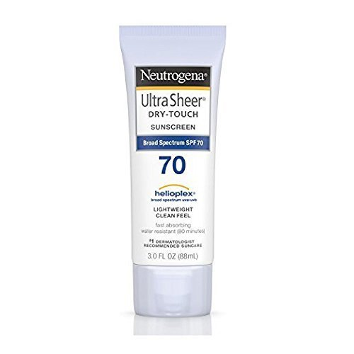 Neutrogena Ultra Sheer Dry Touch Sunscreen SPF 70 3 oz Pack of 2