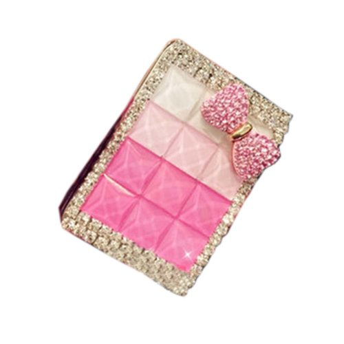Rhinestone Gift Rechargeable Windproof Cigarette Lighter, Pink C