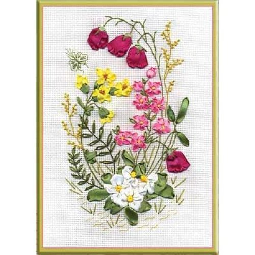 Ribbon Embroidery Kit by Panna  C-0760 Woodland Fantasy