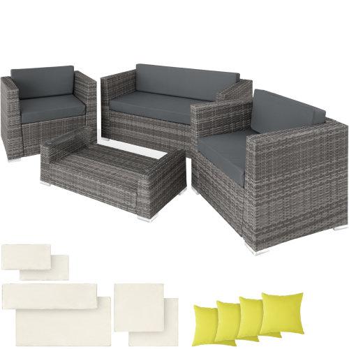 738379b01e1a Rattan Garden Furniture set Munich gray on OnBuy