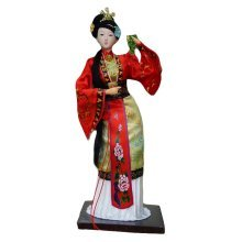 Traditional Chinese Art Silk Figurine Doll Statue Chinese Doll-Shi Xiangyun