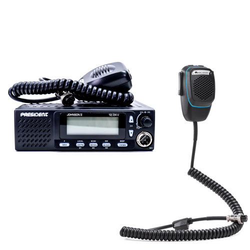 CB Radio  Bundle   CB President Johnson II Radio + Dual Mike Intelligent Microphone with 6-pin Bluetooth