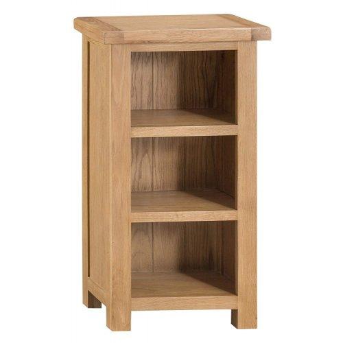 Colchester Rustic Oak Furniture Narrow Bookcase