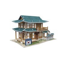 Three-Dimensional House Of Manual Assembly Paper Model Korean Pastry Shop Gift