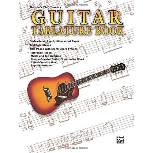 Guitar: Tablature Book-Manuscript Paper-Perforated pages