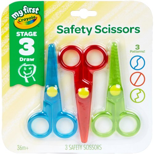 Crayola My First Safety Scissors-3/Pkg