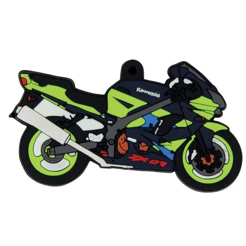 Kawasaki ZX-9R rubber key ring motorcycle gift keyring chain ZX9R ZX9