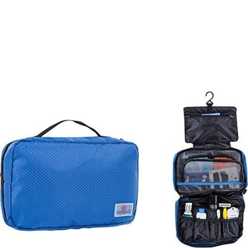 Suvelle T661BL Hanging Toiletry Bag Compact Travel Kit Organize for Men & Women - Blue