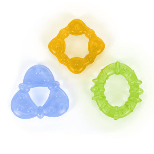 Bright Starts Chill & Teethe Teether Set│Colorfull Water-Filled Dummy