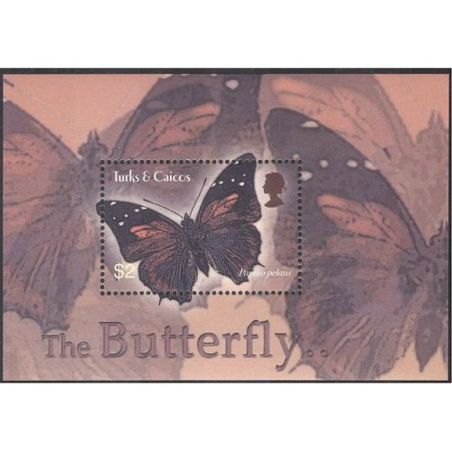 Turks & Caicos 2003 Swallowtail Butterfly/ Butterflies/ Insects/ Nature/ Wildlife 1v m/s (n13343)