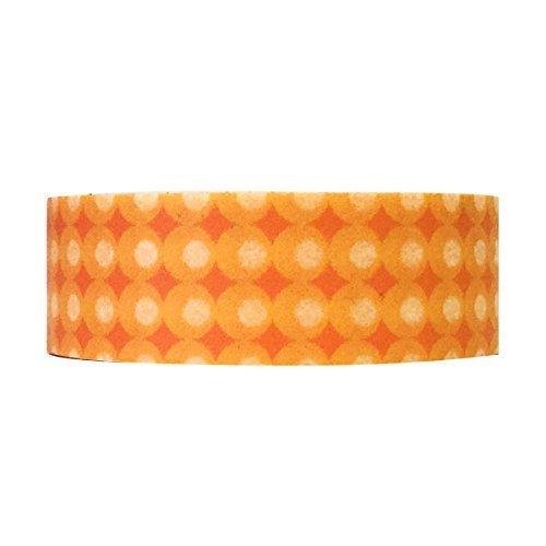 Wrapables Colorful Patterns Washi Masking Tape Orange Cream Dots