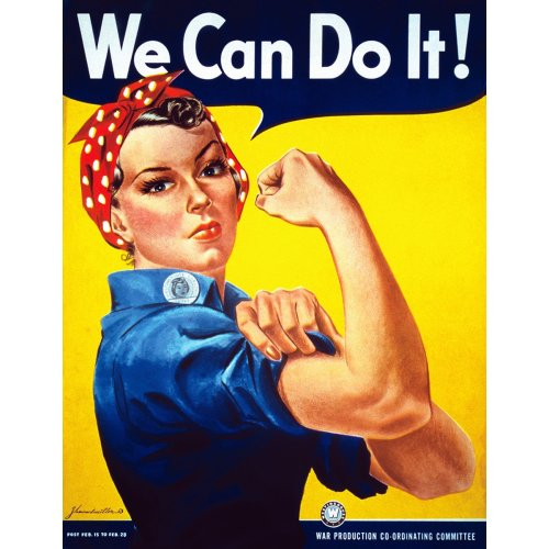 Advertising poster - We Can Do It! - Rosie The Riveter - High definition printing on stainless steel plate