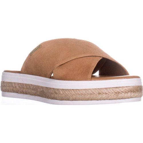 Calvin Klein Jupare Platform Espadrille Sandals, Almond Tan, 5 UK