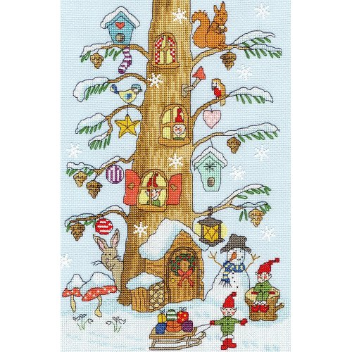 Bothy Threads Cross Stitch Kit - Santa's Little Helpers - developed from art work by June Armstrong XX15