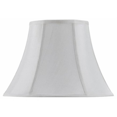 Cal Lighting SH-8104-18-WH 18 in. Vertical Piped Basic Bell Shade, White