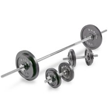 Marcy 50kg Cast Iron Barbell Weight Set With Dumbbell Bars