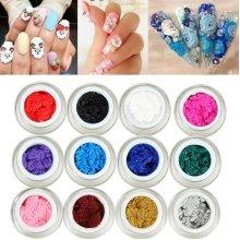 1Pc 3D Sculpture Carving UV Gel Nail Art Manicure Design DIY 12 Colors