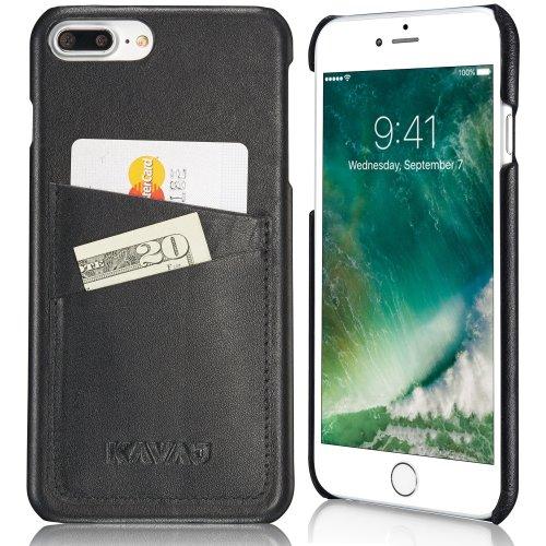 hot sale online 7a663 24761 KAVAJ iPhone 8 Plus iPhone 7 Plus Case Leather Tokyo Black Slim-Fit Genuine  Leather iPhone 8 Plus Wallet Case Leather iPhone 8 Plus Bumper Case...