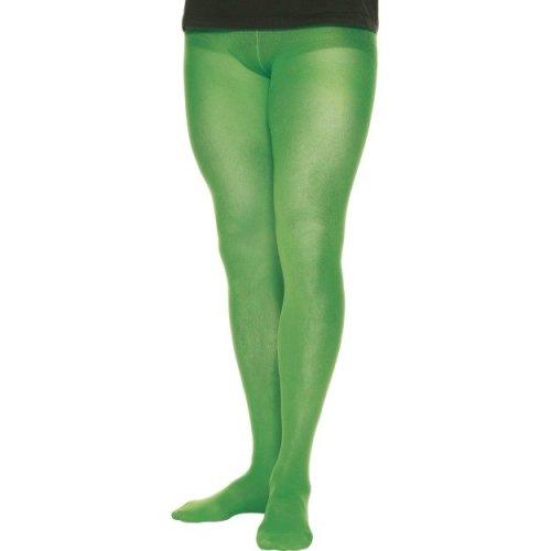 Green 70 Denier Men's Costume Tights. -  green mens tights fancy dress accessory costume elf christmas new santas helper