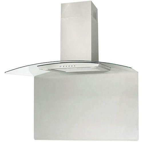 CIARRA Curved Stainless Steel Splashback 90cm x 75cm For Glass Cooker Hood 900mm