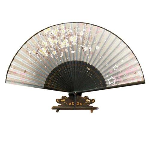 """Flower Pattern 8.27""""(21cm) Women's Handheld Fan Folding Hand Fan Nice Gift"""