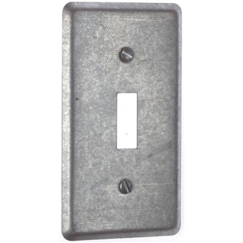 Thomas & Betts Single Gang 1 Toggle Utility Box Cover 58-C-30