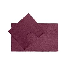 Cotton Bath Mat and Pedestal Set - Purple