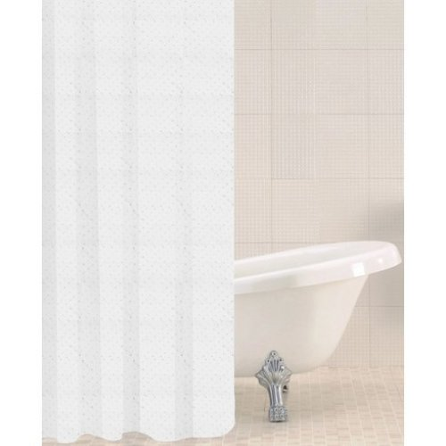 Sabichi Sparkle Polyester Shower Curtain - Glitter Adorned 180 x 180cm 179401 -  sabichi sparkle polyester shower curtain glitter adorned 180 x 180cm