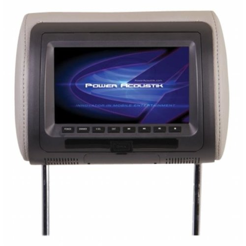 POWER HDVD71CC 7 in. Universal Replacement Headrest with DVD
