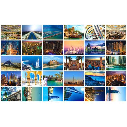 30 PCS 1 Set Collectible World's Artistic Beautiful Postcards, Dubai