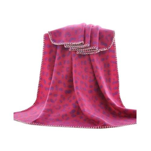 Rose Leopard Pattern Summer Multipurpose Throw Blanket, 100x150cm/39x59inch