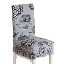 [Flowers-04] Stretch Dining Chair Slipcover Chair Cover Chair Protector