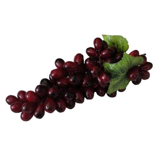 Set of 3 Realistic Artificial Fruit Kitchen Table Decoration Grape Purple 25cm