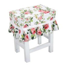 Canvas Stool Cover Makeup Stool Cover Flower