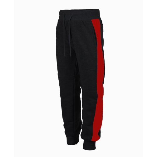 Kids Pullover Hood CH-2011 Tracksuit Bottoms in Black-Red 3-4 Years