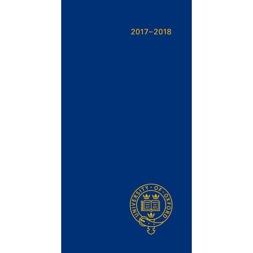 Oxford University Pocket Diary AUGUST  2017- DECEMBER 2018 (Oxford University Pocket Diary Series)