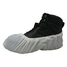 NEW WHITE SAFETY DISPOSABLE SHOE COVER OVERSHOE VALUE 10 PACK
