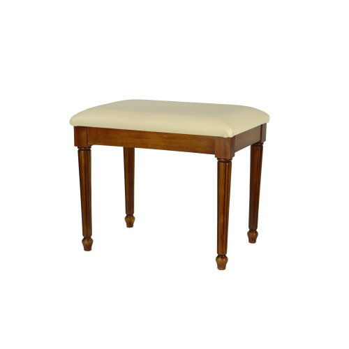 Antique Oak effect large Dressing Table/ Bedroom/ Foot Stool with Fluted Legs