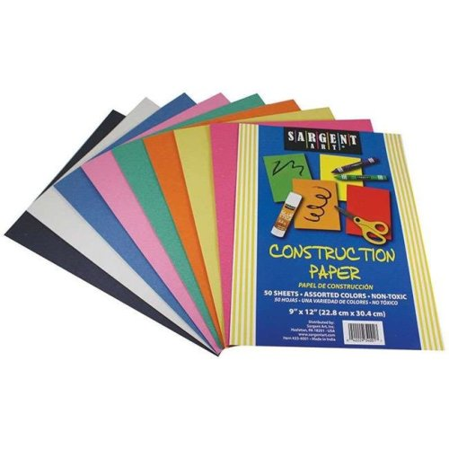 Sargent Art SAR234001BN Construction Paper, Assorted - Pack of 12