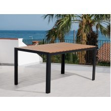 Garden Table - Outdoor Dining Table - Aluminum - 150x90 cm - Brown - COMO