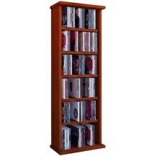 VCM Shelf Shelves Storage Unit Cabinet Bookshelf Bookcase CD DVD Furniture Tower Wood 'Vostan' Cherry