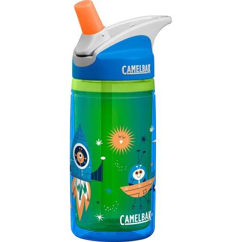 Camelbak Kids' Eddy Isoliert Water Bottle, Blue Rockets, 14 oz /0.4L