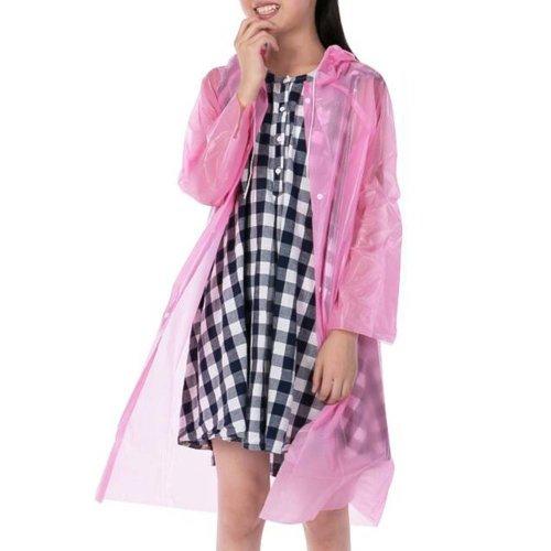 Plastic Disposable Raincoat Children Camping Rainwear Emergency Waterproof 5 Pcs