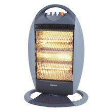 Igenix Ig9512 Portable Bar Quartz Halogen Heater, 1200 W, Grey/white